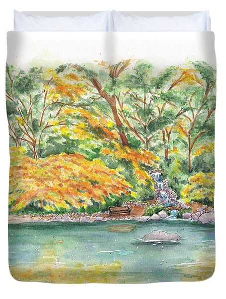 Lithia Park Reflections Duvet Cover