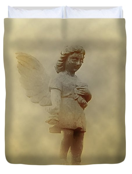 Little Angel In The Clouds Duvet Cover by Bill Cannon