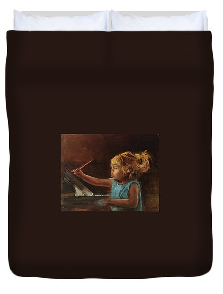 Little Artist Duvet Cover