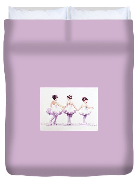 Little Ballerinas-3 Duvet Cover