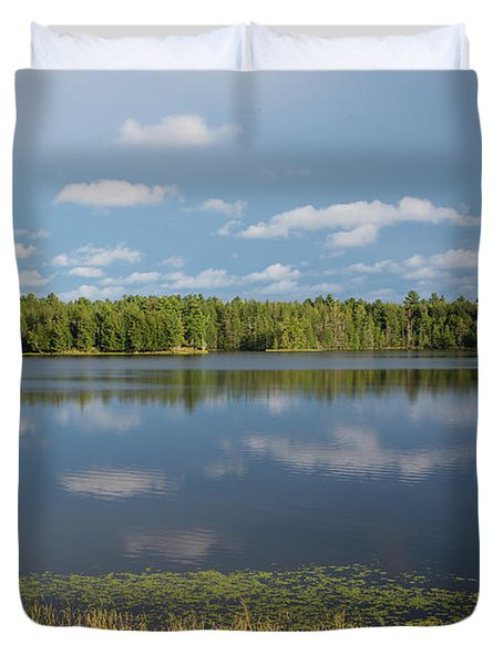 Northwoods Lake Reflections Duvet Cover