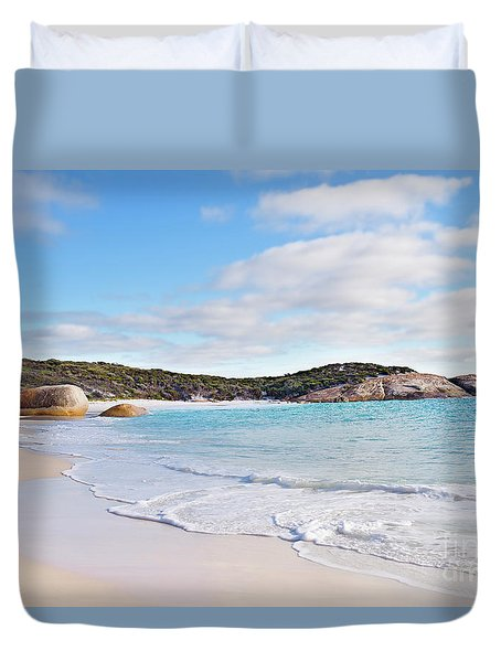 Duvet Cover featuring the photograph Little Beach, Australia by Ivy Ho