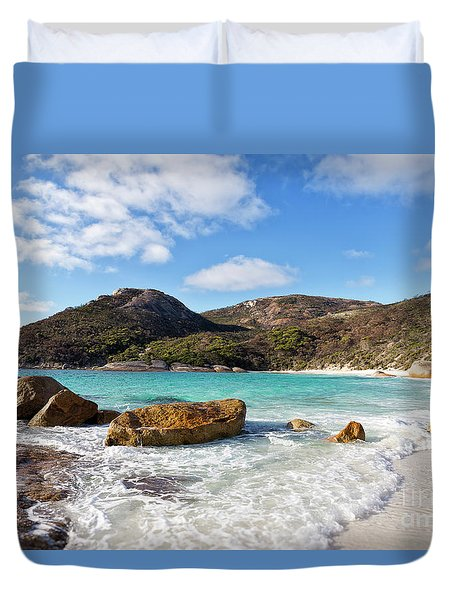 Duvet Cover featuring the photograph Little Beach Two Peoples Bay Nature Reserve by Ivy Ho
