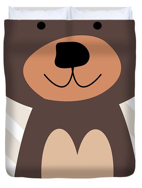 Little Bear Nursery Art Duvet Cover