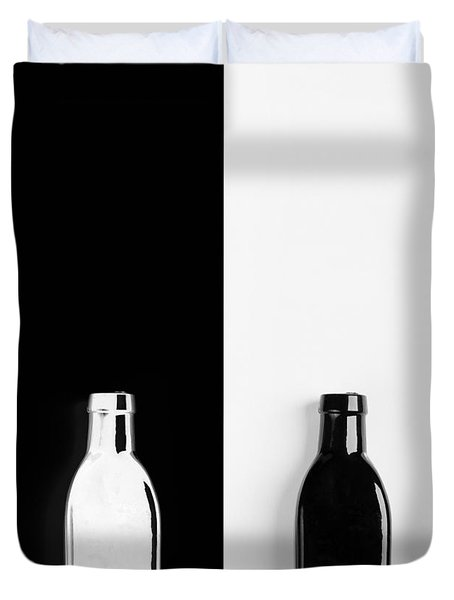 Duvet Cover featuring the photograph Little Black  Bottle by Andrey  Godyaykin