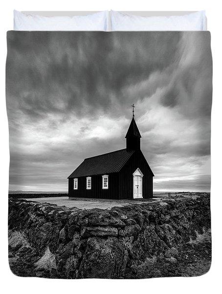 Little Black Church 2 Duvet Cover