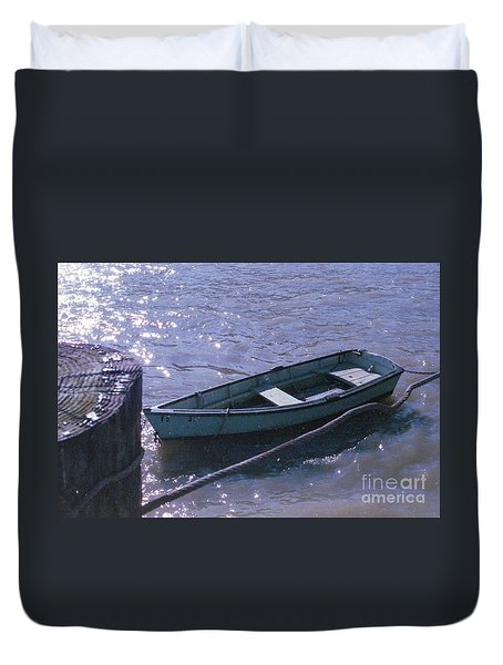 Little Blue Boat Duvet Cover
