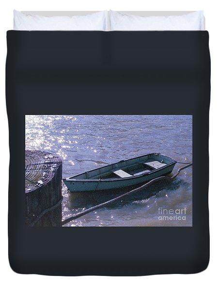 Little Blue Boat Duvet Cover