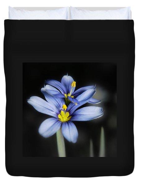 Little Blue Flowers Duvet Cover