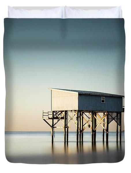 Little Blue Sunrise Duvet Cover