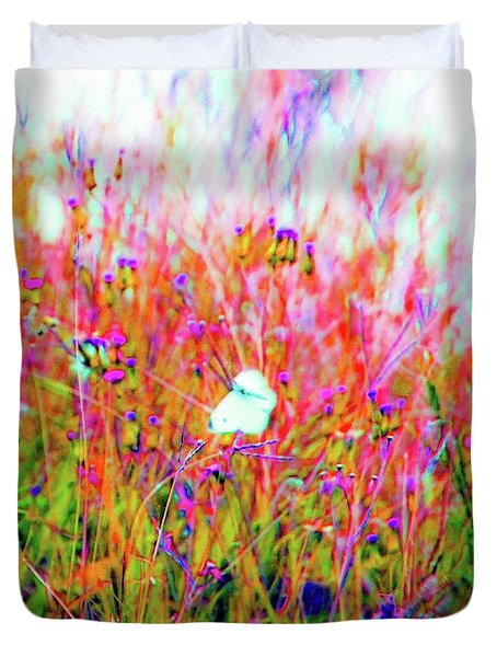Duvet Cover featuring the photograph Little Butterfly Fly by D Davila