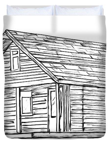 Little Cabin In The Woods Duvet Cover