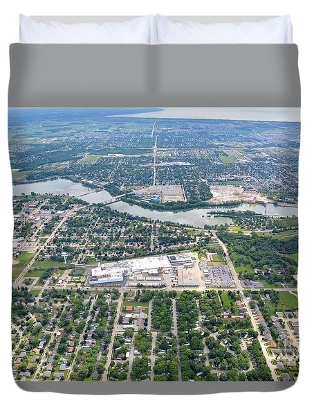 Duvet Cover featuring the photograph Little Chute Wrightstown by Bill Lang