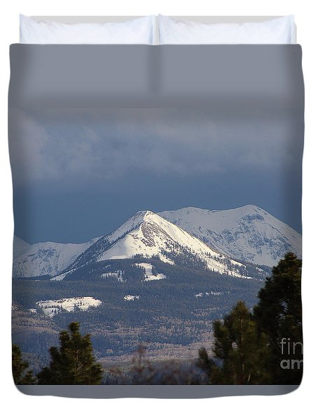 Little Cone Peak Colorado Duvet Cover