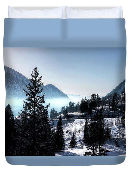 Duvet Cover featuring the photograph Little Cottonwood Canyon by Jim Hill