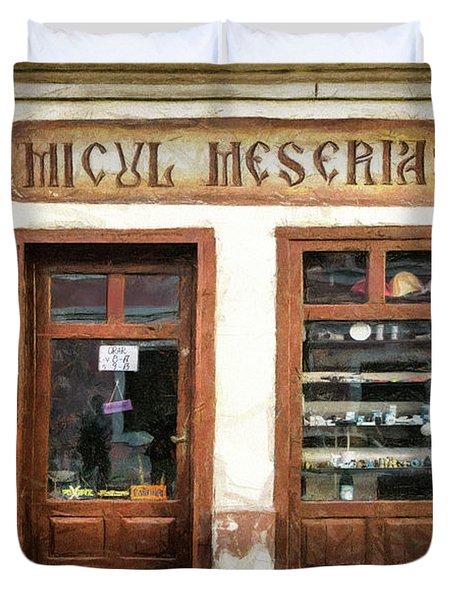 Little Craftsman' Shop - Micul Meserias Duvet Cover