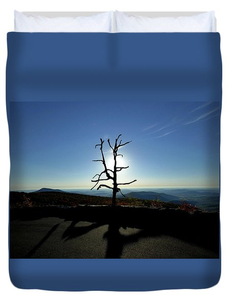 Duvet Cover featuring the photograph Little Devil Stairs Overlook by Robert Geary