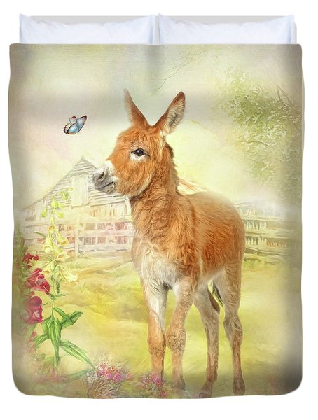Little Donkey Duvet Cover by Trudi Simmonds