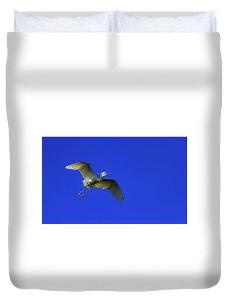 Little Egret, Egretta Garzetta Duvet Cover