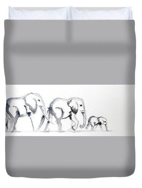 Little Elephant Family Duvet Cover