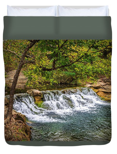 Little Falls Duvet Cover by Doug Long