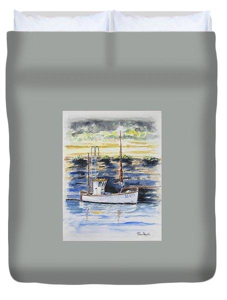 Little Fishing Boat Duvet Cover