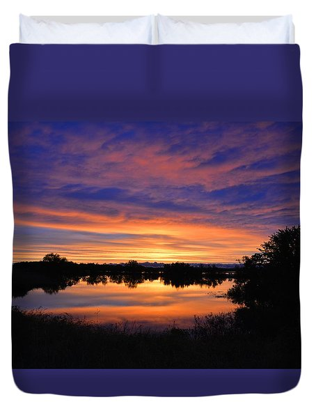 Little Fly Creek Sunset 1 Duvet Cover