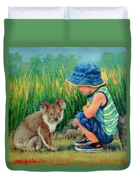 Little Friends Duvet Cover by Margaret Stockdale