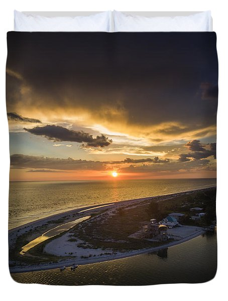 Little Gasparilla Island Point Sunset Duvet Cover
