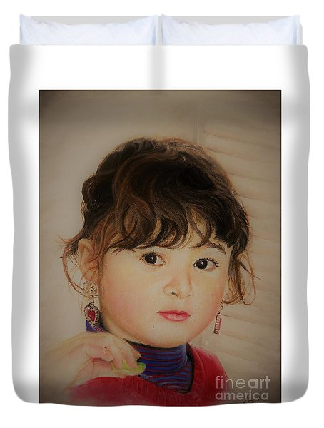 Little Girl Duvet Cover
