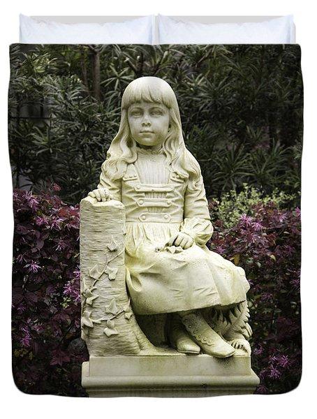 Little Gracie Bonaventure Cemetery Duvet Cover
