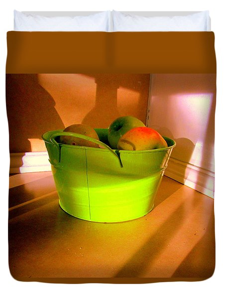 Little Green Apples Duvet Cover