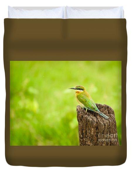 Little Green Bee-eater Duvet Cover