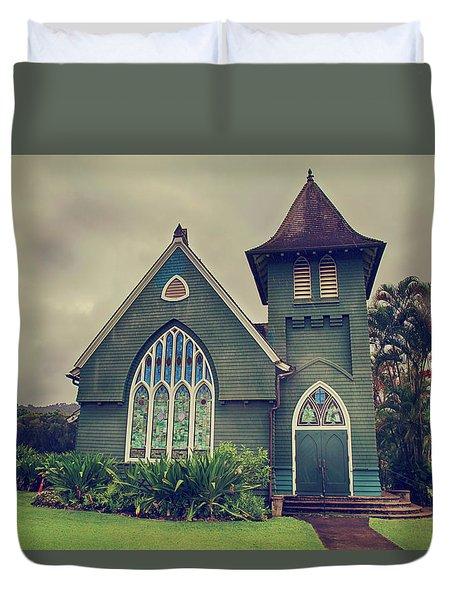 Little Green Church Duvet Cover