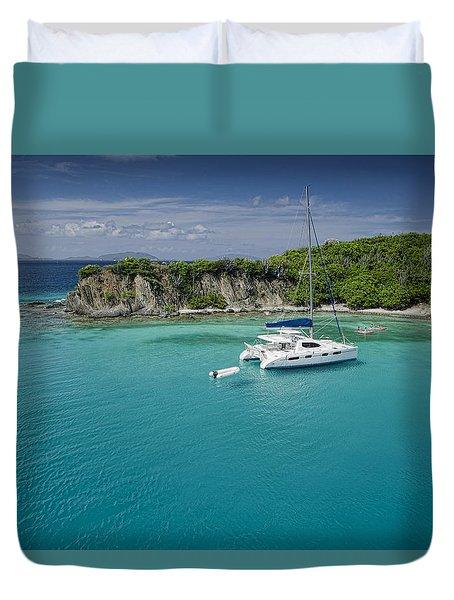 Little Harbor, Peter Island Duvet Cover