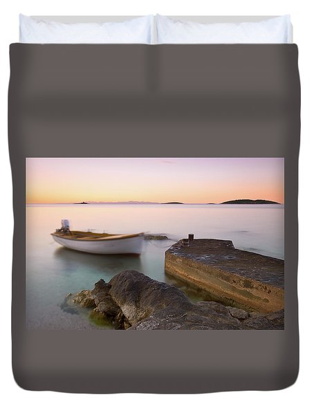 Duvet Cover featuring the photograph Little Haven by Davor Zerjav
