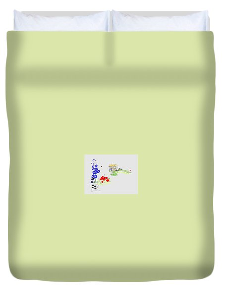 Little House And Garden Duvet Cover