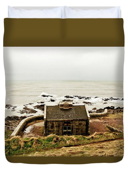 Little House At The Nigg Bay. Duvet Cover