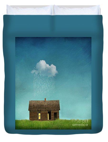 Duvet Cover featuring the photograph Little House Of Sorrow by Juli Scalzi