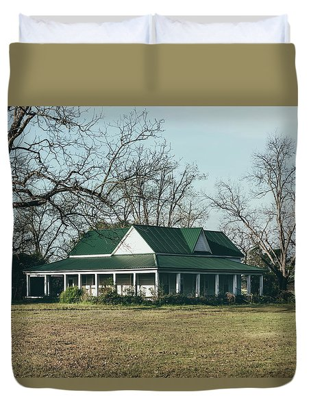 Duvet Cover featuring the photograph Little House On The Prairie by Kim Hojnacki