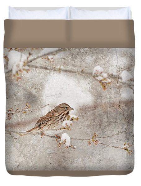 Little House Sparrow Duvet Cover