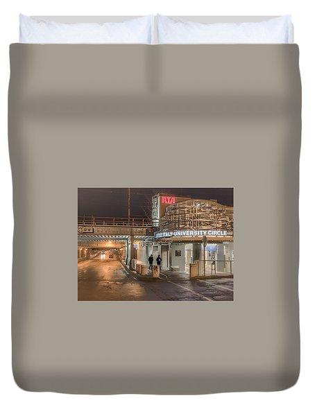 Duvet Cover featuring the photograph Little Italy Rta by Brent Durken