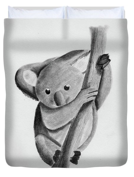 Little Koala On A Tree Duvet Cover