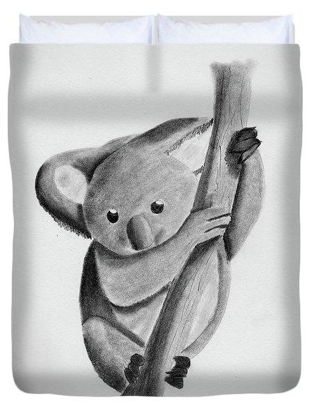 Little Koala On A Tree Duvet Cover