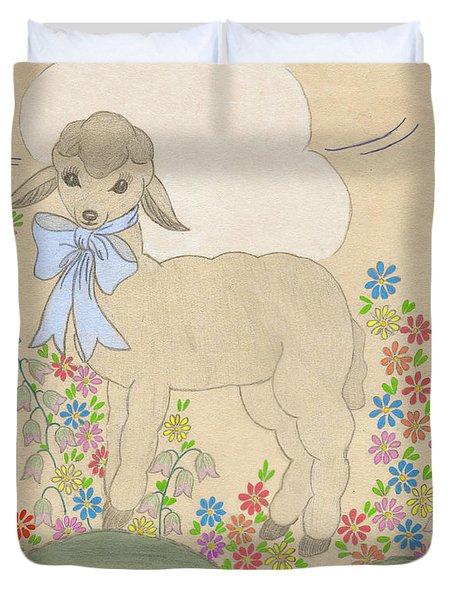 Little Lamb Lightened Duvet Cover