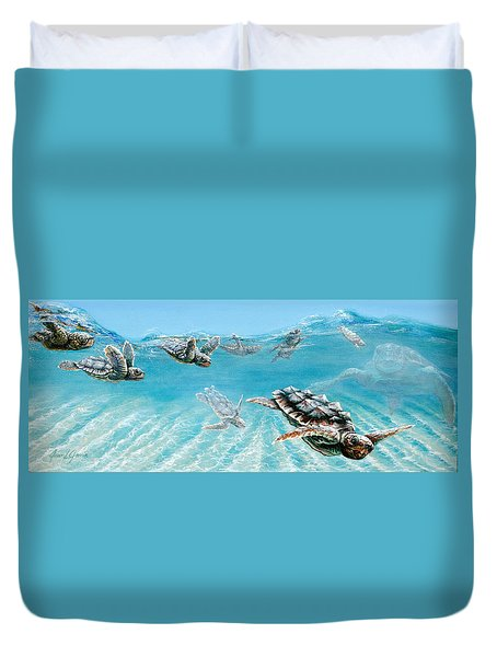 Little Loggerheads Duvet Cover
