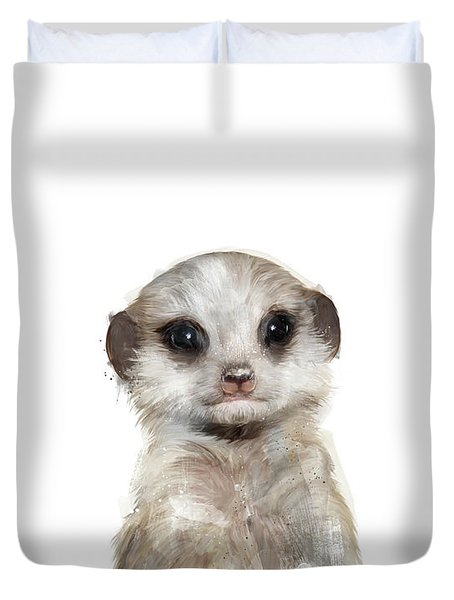 Little Meerkat Duvet Cover by Amy Hamilton