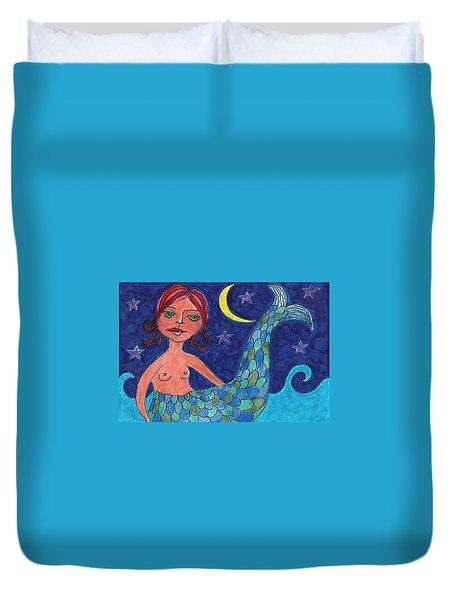 Little Mermaid Duvet Cover by Lisa Noneman