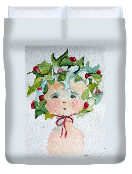 Little Miss Innocent Ivy Duvet Cover by Mindy Newman