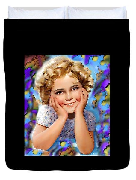 Little Miss Shirley Duvet Cover